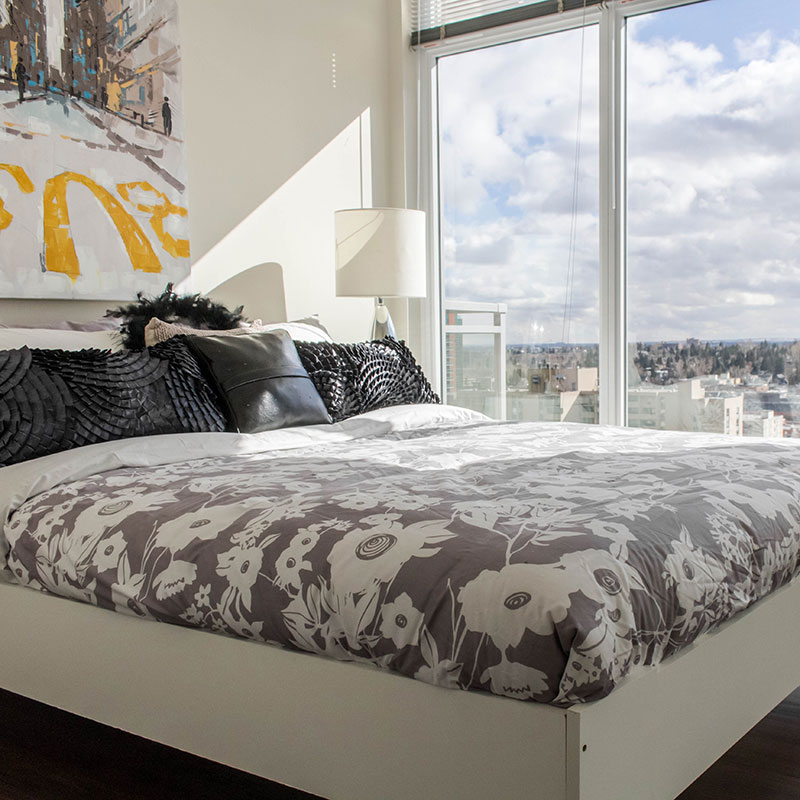 bright bedrooms with a view