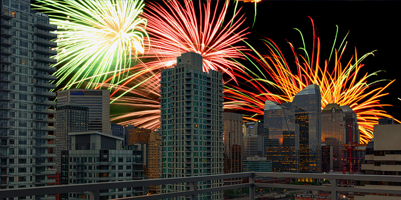 Who doesn't love to see the Calgary Stampede fireworks?